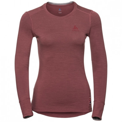 ODLO WOMENS 100% MERINO WARM SUW Roan Rouge 110811-30619