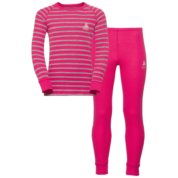 ODLO ACTIVE WARM KIDS set Purple/Stripes 150409-30499