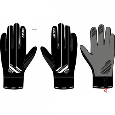 KV+ GLOVES COLD PRO Black (without flap) 20G05-1