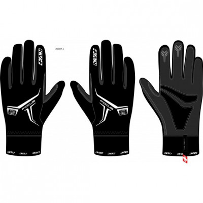 KV+ GLOVES FOCUS Black (without flap) 20G07-1