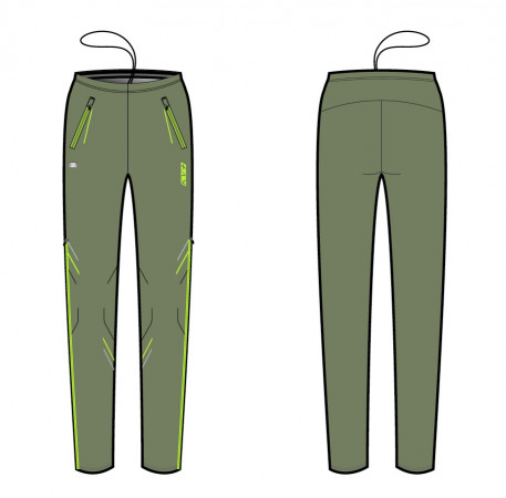 detail KV+ KARINA PANTS WOMAN oil green 20V121-7