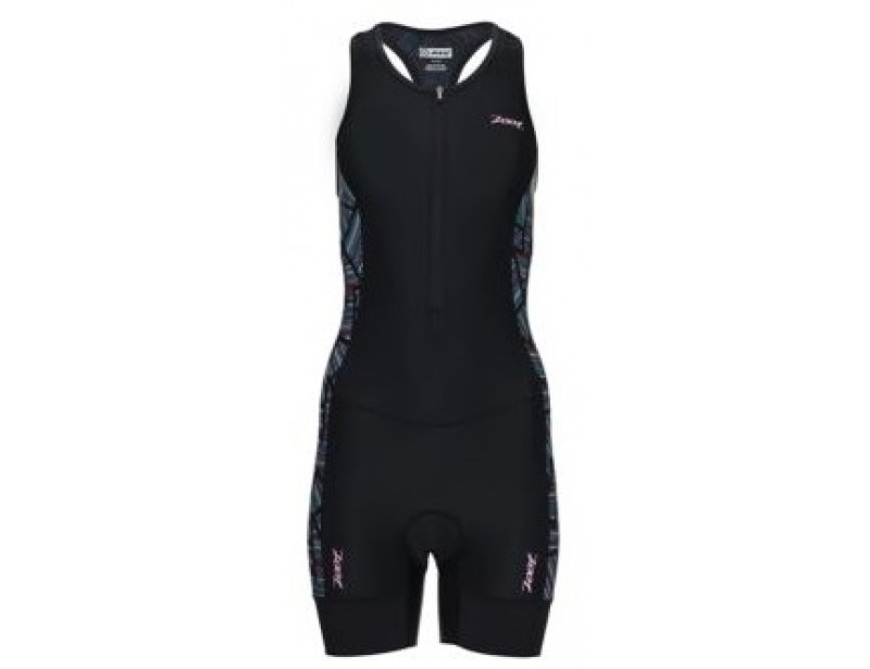 ZOOT PERFORMANCE TRI RACESUIT Pink/Ginger/Long board