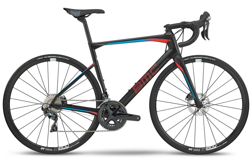 detail BMC ROADMACHINE 02 TWO ULTEGRA Carbon Red/Blue