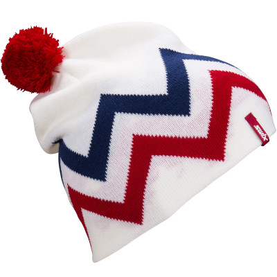 SWIX TRACX BEANIE White/Red 46648-00025