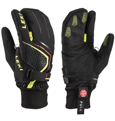 LEKI NORDIC CRUISE SHARK LOBSTER Black/Yellow