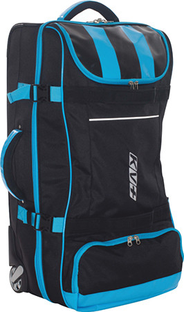 detail KV+ BIG TROLLEY BAG 110L Black/Blue 6D12-12