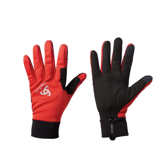 ODLO GLOVES WINDPROOF WARM Fiery Red 761160-38601