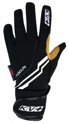 KV+ XC FOCUS KANGO PRO WIND TECH GLOVES – black/kango 7G07-10