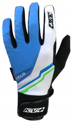 KV+ XC FOCUS PRO WIND TECH GLOVES – blue/white 7G07-2