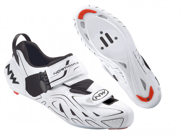 detail NORTHWAVE TRI-SONIC – WHITE/BLACK