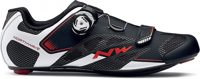 detail NORTHWAVE SONIC 2 PLUS WIDE– Black/White/Red