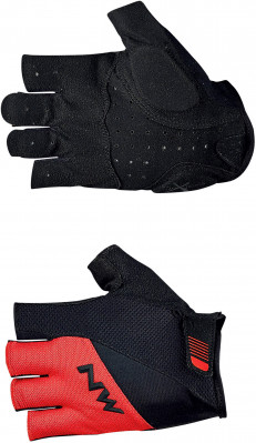 NORTHWAVE SHORT GLOVES FLASH 2 Red/Black