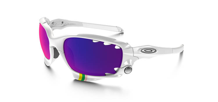 OAKLEY TDF Racing Jacket Polished White / Red Irdium + VR28 Black Iridium