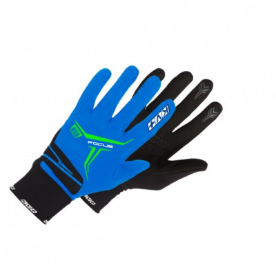 KV+ XC FOCUS GLOVES Blue/White 9G07-2