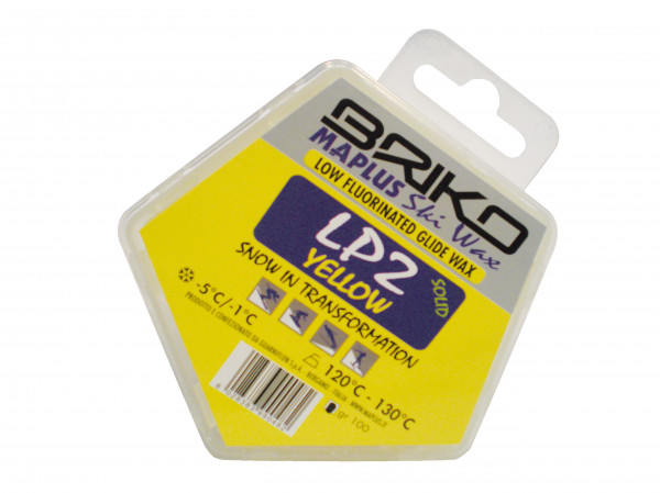 detail BRIKO MAPLUS LP2 PARAFFIN - LOW FLUORINATED YELLOW 100g