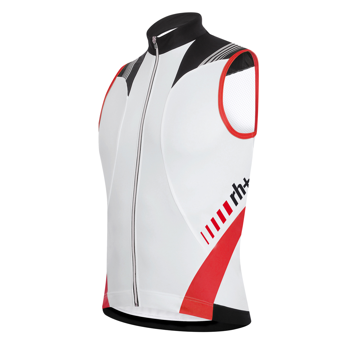 RH+ Vertex Sleeveless Jersey Fz white-black-red ECU0196-093