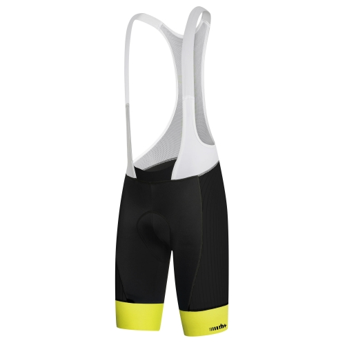 RH+ HERO BIBSHORTS Black/White/Fluo Yellow ECU0327-918