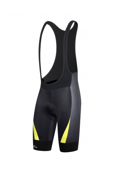 RH+ SHIVER BIBSHORTS Black/Fluo Yellow ECU0346-917