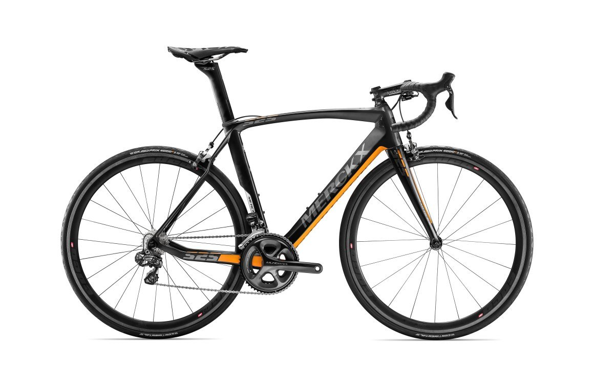 náhled EDDY MERCKX EM525 PERFORMANCE ULTEGRA Di2 BLACK/ORANGE