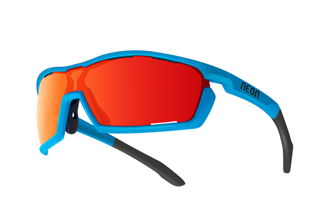 NEON FOCUS Cyan Fluo/Mirror Red