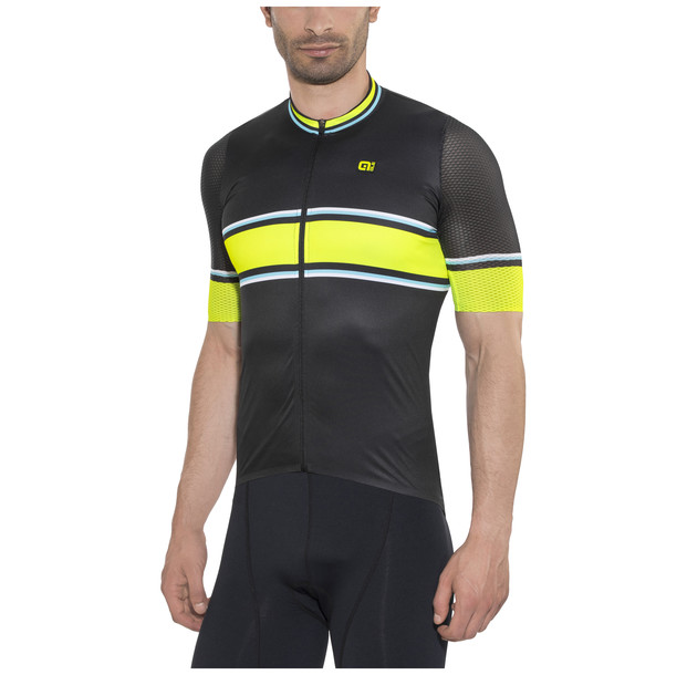 náhled ALÉ R-EV1 SPEEDFONDO JERSEY Black/Fluo Yellow/Turquoise