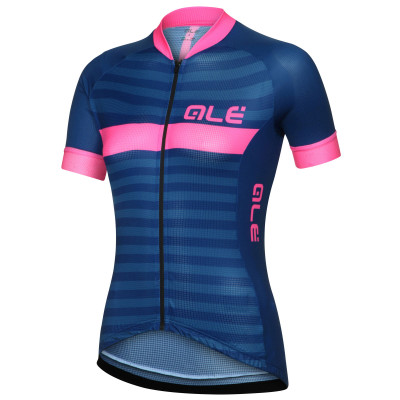 ALÉ SOLID RIVIERA JERSEY Blue/Fluo Pink