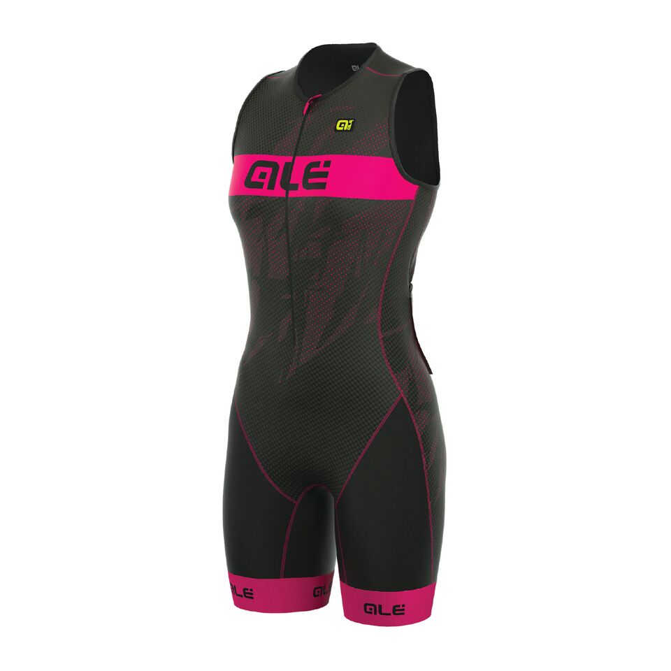 náhled ALÉ LONG TRI RECORD SUIT Black/Fluo Magenta