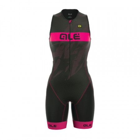 detail ALÉ LONG TRI RECORD SUIT Black/Fluo Magenta