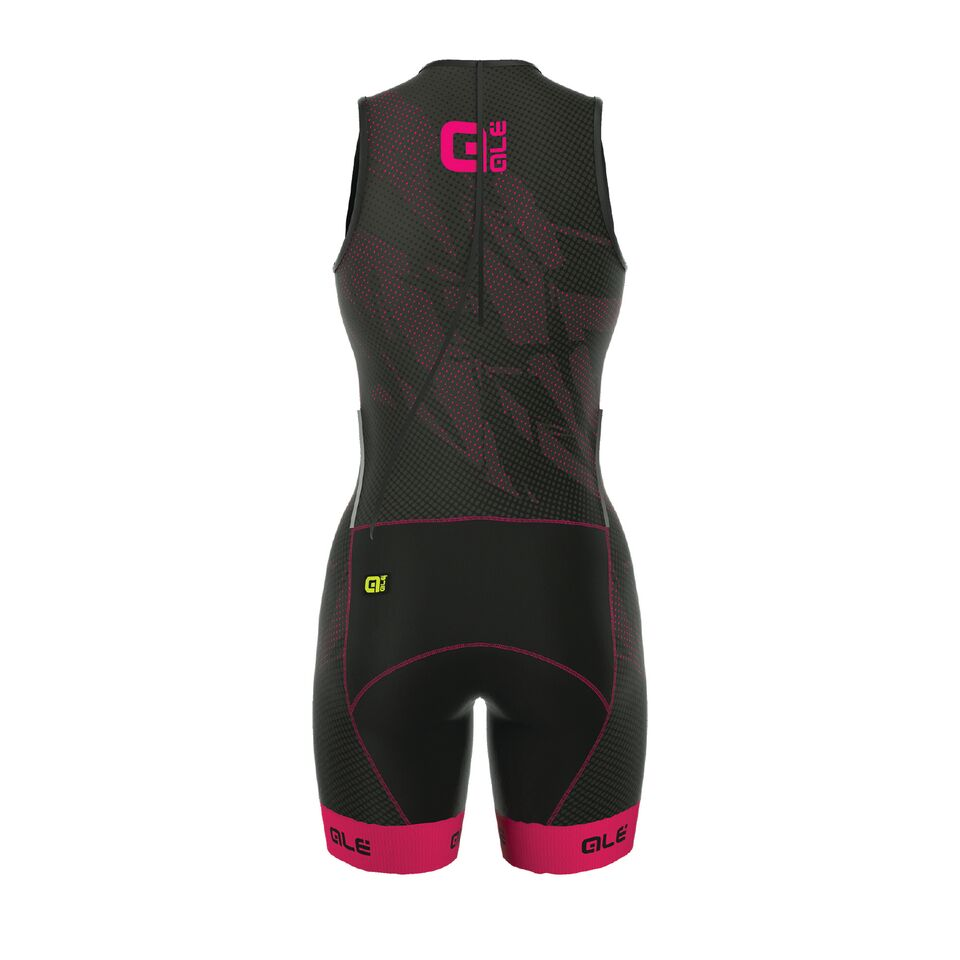 detail ALÉ OLYMPIC TRI RECORD SUIT Black/Fluo Magenta