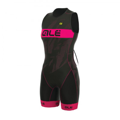 ALÉ OLYMPIC TRI RECORD SUIT Black/Fluo Magenta