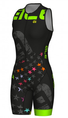 ALÉ LONG TRI STELLE SKINSUIT Black/Fluo Green