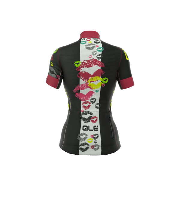 detail ALÉ GRAPHICS PRR SMACK JERSEY Black/Strawberry