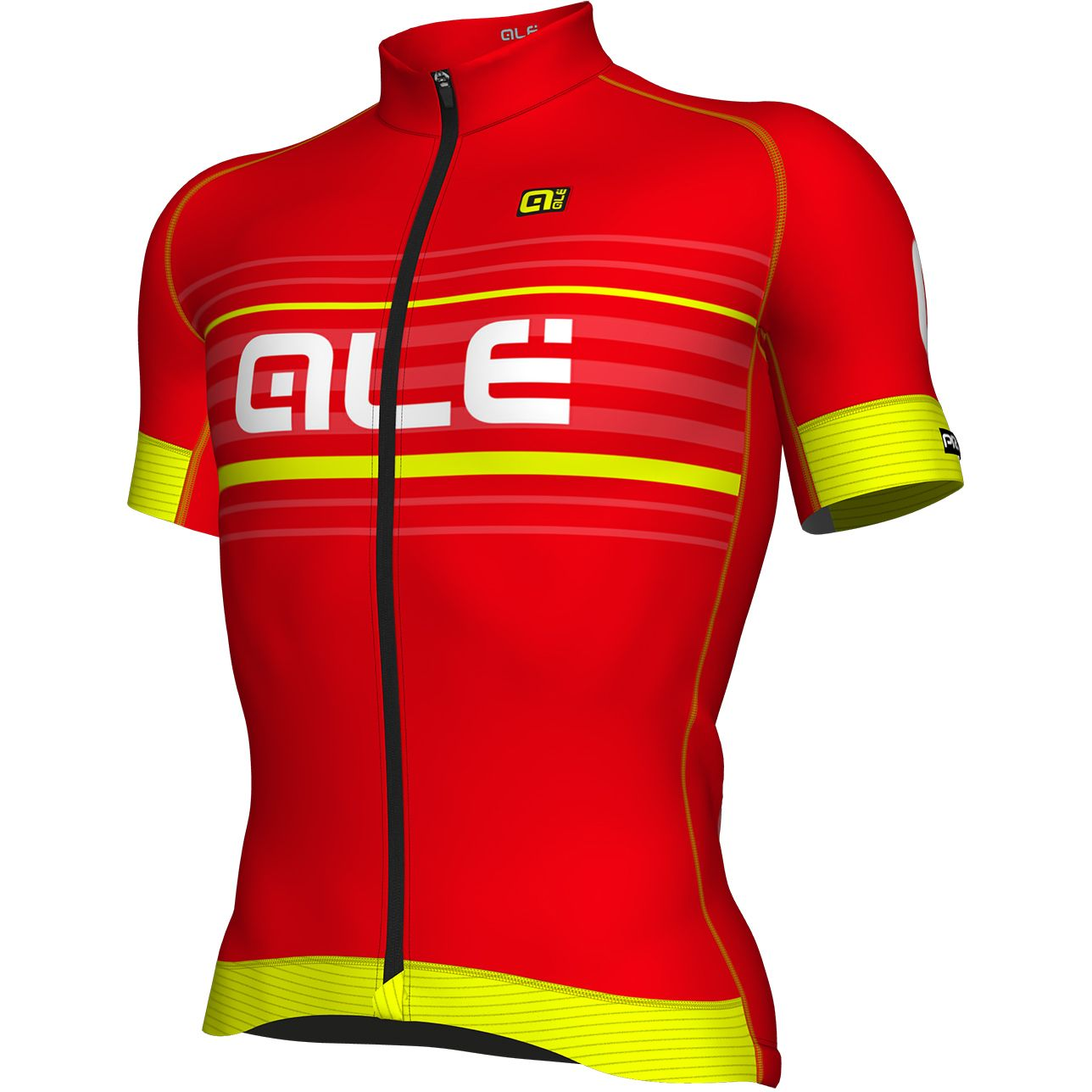 detail ALÉ GRAPHICS PRR SALITA JERSEY Red/Fluo Yellow