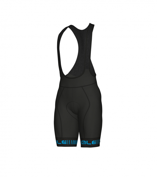 detail ALÉ GRAPHICS PRR STRADA BIBSHORTS Black/Cyan