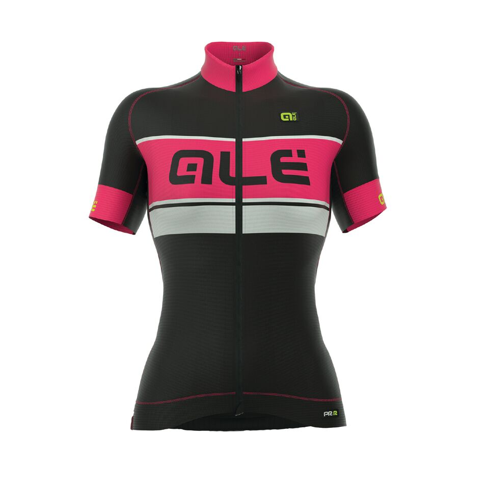 ALÉ GRAPHICS BERMUDA JERSEY Black/Fluo Pink/White