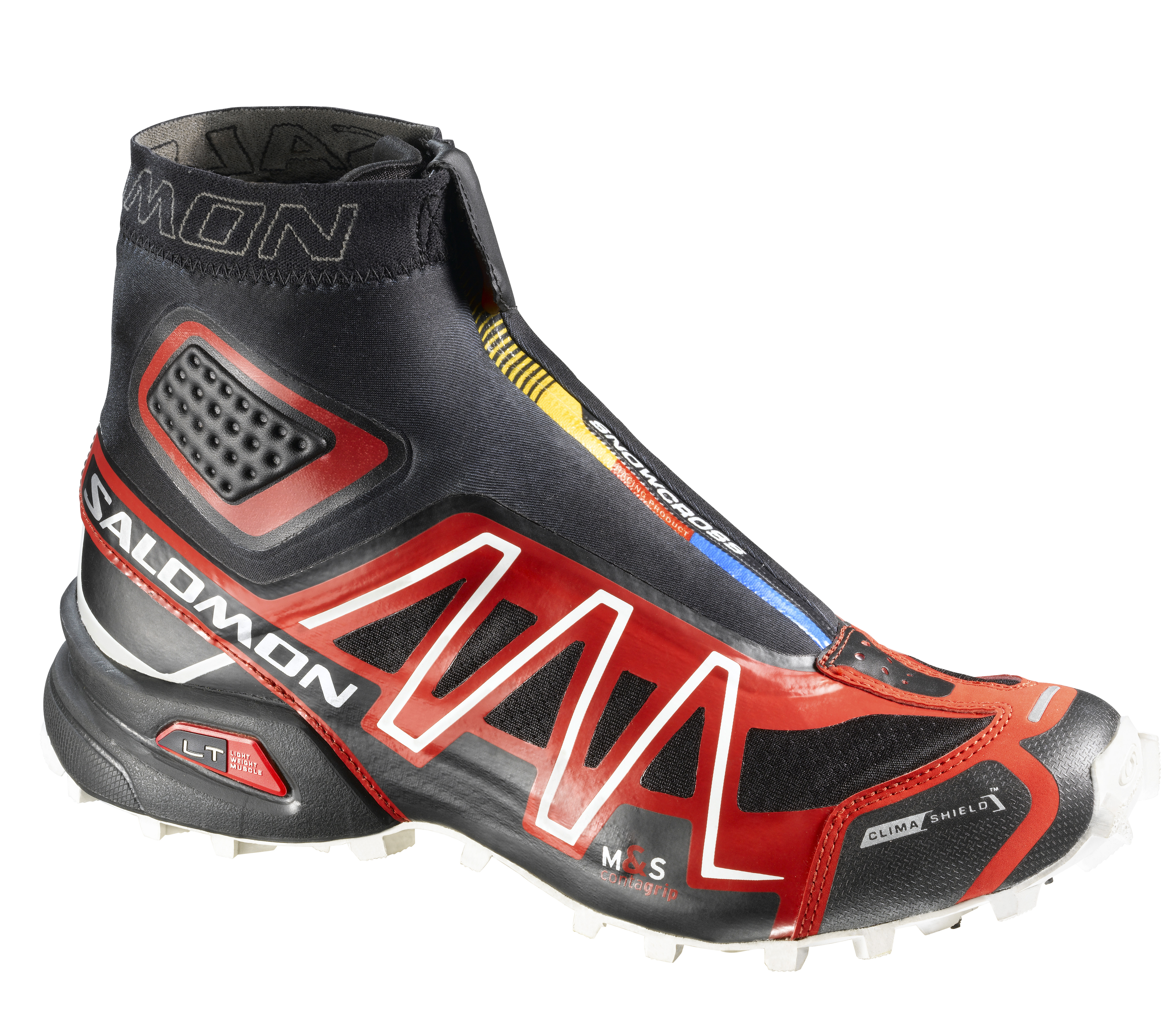 SALOMON SNOWCROSS CS BLACK/BRIGHT RED/CANE