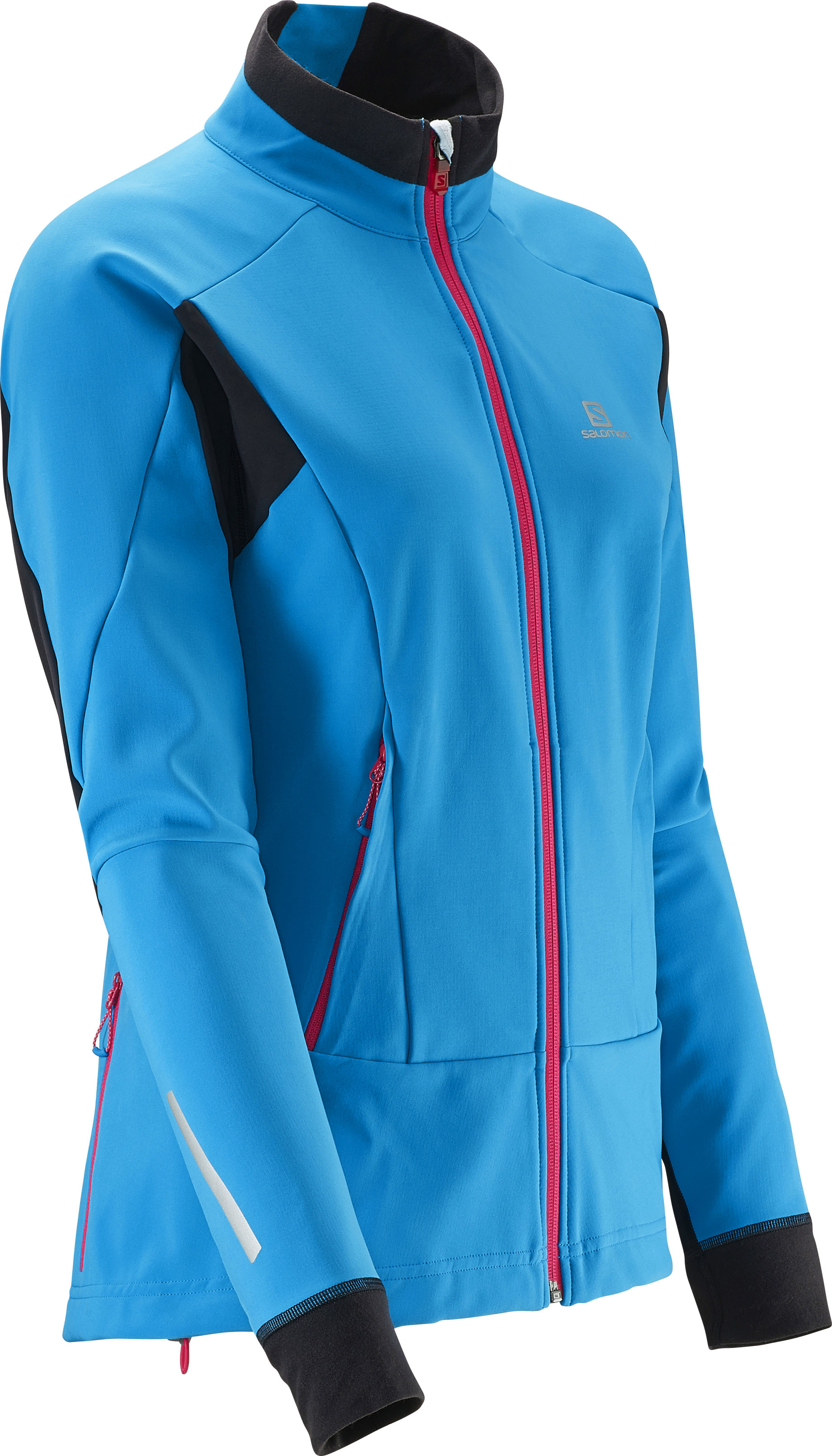 SALOMON MOMEMTUM SOFTSHELL JACKET W blue L37396000