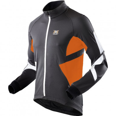 X-BIONIC BIKING WINTER SPHEREWIND JACKET LIGHT Black/Orange O100376-B078