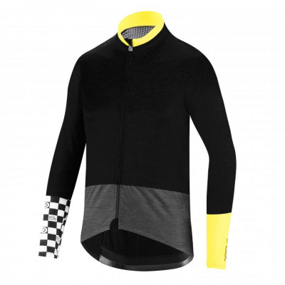 DOTOUT MEDITERRANEA WOOL JACKET Black/Fluo Yellow A19M550