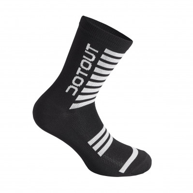 DOTOUT STRIPE SOCKS Black/White A20X120-910