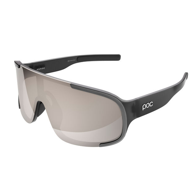 POC ASPIRE Uranium Black Cold Brown/Silver Mirror