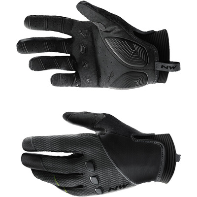 detail NORTHWAVE SPIDER FULL FINGERS GLOVE Black