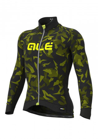 detail ALÉ GRAPHICS GLASS JERSEY Black/Fluo Yellow