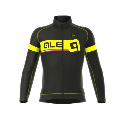 detail ALÉ GRAPHICS FORMULA 1.0 ADRIATICO 2017 jacket – black/fluo yellow L03446017