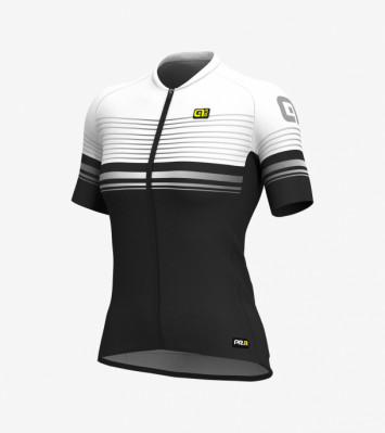 ALÉ PRR GRAPHICS SLIDE LADY JERSEY Black/White
