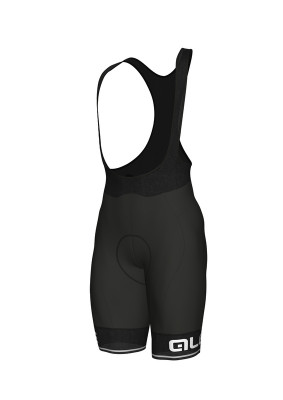 ALÉ SOLID CORSA BIBSHORTS Black/White