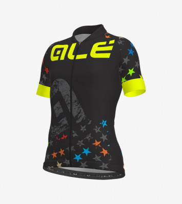 ALÉ BIMBO STELLE KID JERSEY Black/Fluo Yellow