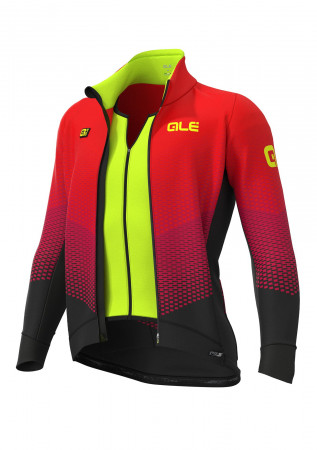 detail ALÉ PRS DELTA COMBI DWR STRETCH JACKET Black/Bordeaux/Red