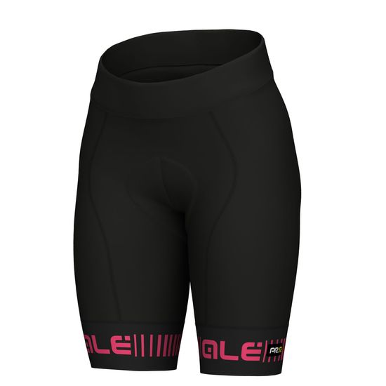 ALÉ PRR GRAPHICS STRADA LADY SHORTS Black/Fluo Pink