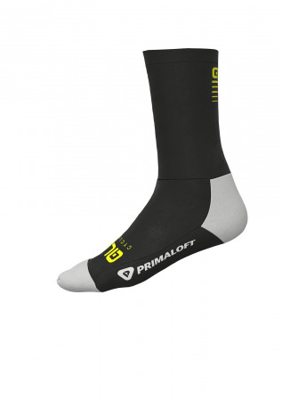 detail ALÉ THERMO PRIMALOFT SOCKS Black/Fluo Yellow